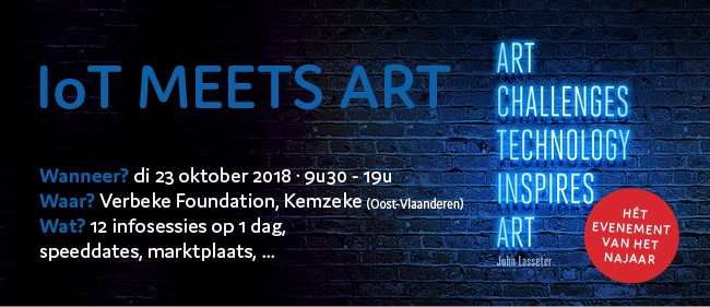 IoT meets art uitnodiging
